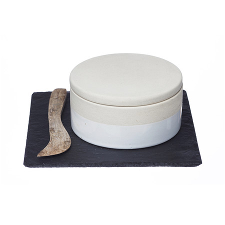The Just Slate Company - Stoneware Classics - Gourmet Cheese Baker