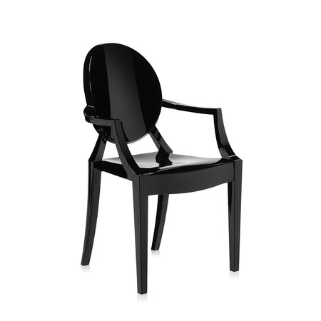 Kartell - Loulou Ghost Children's Chair - Glossy Black