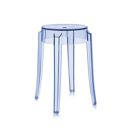 Kartell - Charles Ghost Stool - Light Blue - 46cm