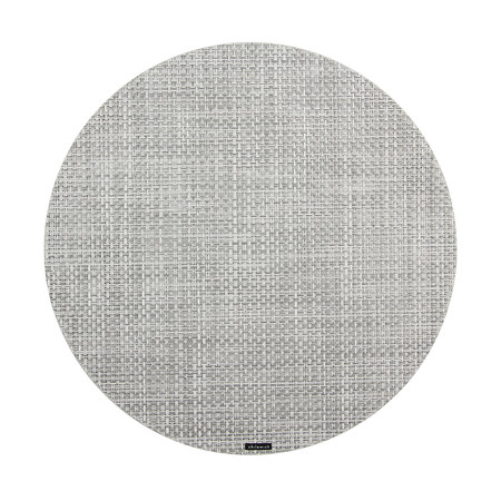 Chilewich - Set de Table Rond Basketweave - Blanc/Argent