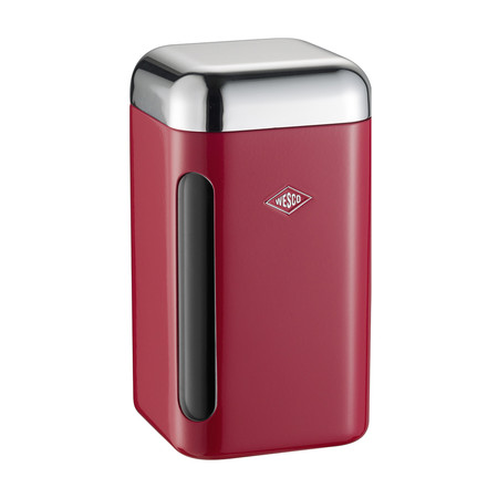 Wesco - Square Canister - 1.65L - Red