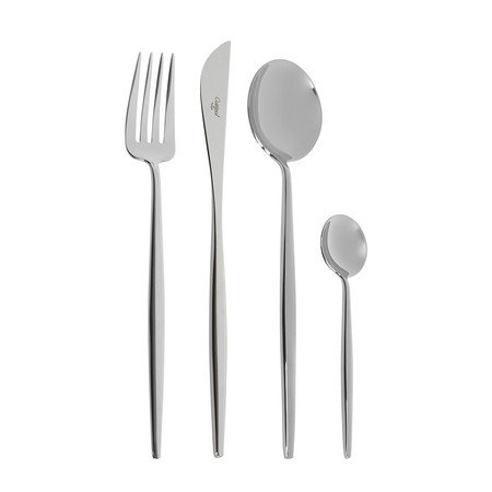 Cutipol - Moon Cutlery Set - 24 Piece - Silver