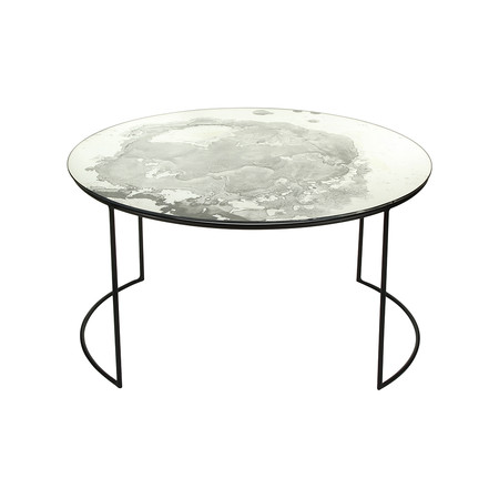 Buy A By Amara Iridescent Glass Round Table Side Table