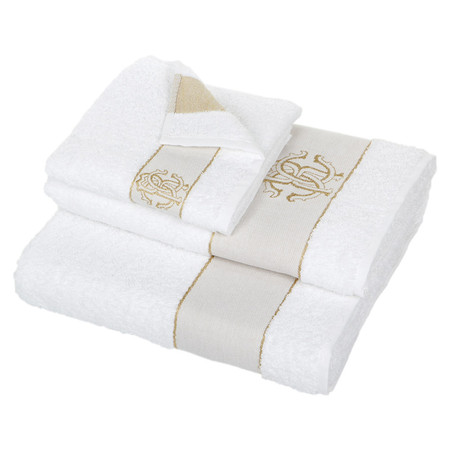 Roberto Cavalli - Araldico Towel - White - Bath Sheet