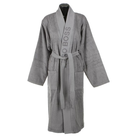 Hugo Boss - Plain Bathrobe - Concrete