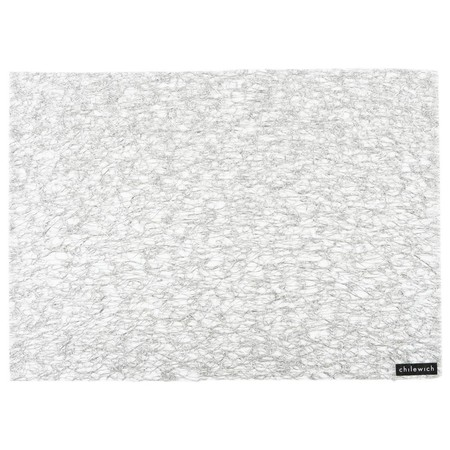 Chilewich - Metallic Lace Rectangle Placemat - Silver