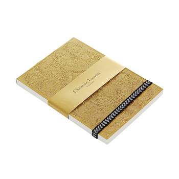 Paseo Embossed Notepad - Gold - A6