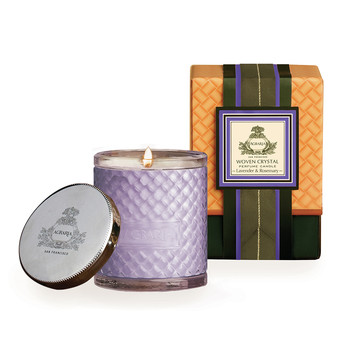 Woven Crystal Candle - Lavender & Rosemary