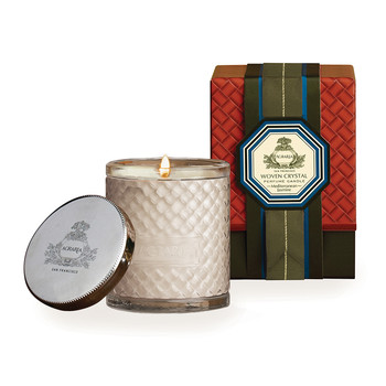 Woven Crystal Candle - Mediterranean Jasmine