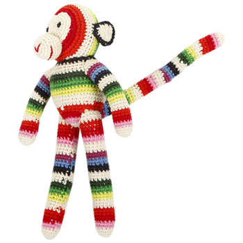 Chimp Crochet Baby Toy - Mix Stripe