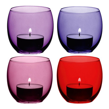Coro Assorted Tealight Holders - Set of 4 - Berry