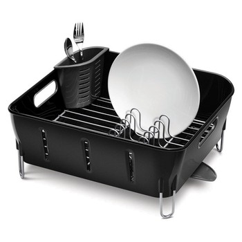 Black Compact Dish Rack