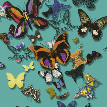 Butterfly Parade Wallpaper - PCL008/03 - Lagon