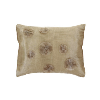 Pleated Disc Bed Pillow Cover - 31x42cm