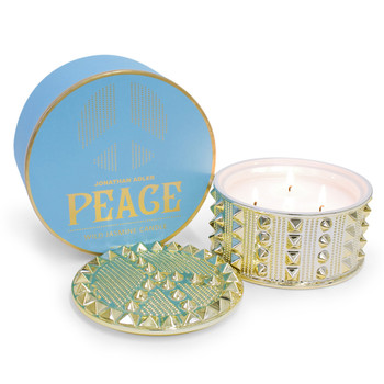 Peace Studded Candle
