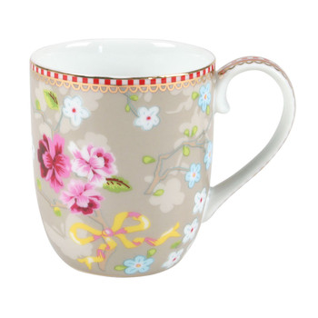Small Chinese Rose Mug - Khaki