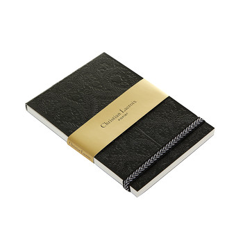 Paseo Embossed Notepad - Black - A6