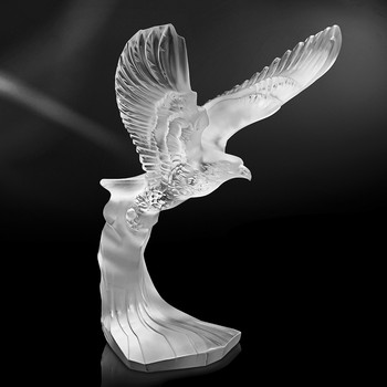 Figurine Clear Golden Eagle
