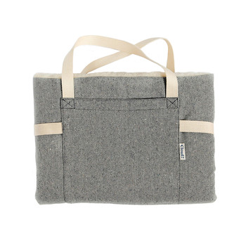 Travel Bed - Tweed Grey