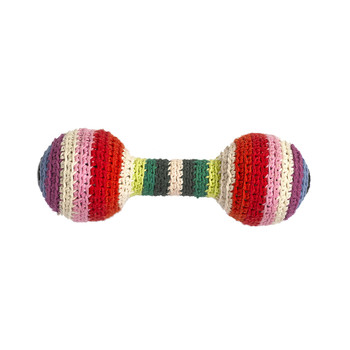 Crochet Baby Rattle - Mix Stripe