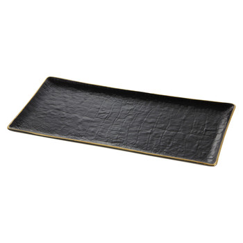 Crocodile Rectangular Tray - Gold - 15x30cm