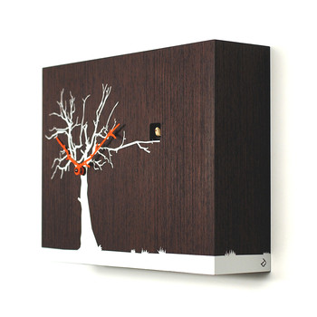 Cucuruku Wall Clock - Wenge Wood/White