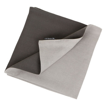 Double Linen Napkin - Cement/Smoke