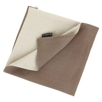 Double Linen Napkin - Natural/Taupe