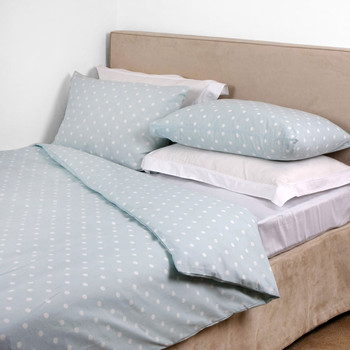 Duck Egg Spot Duvet Cover - Double