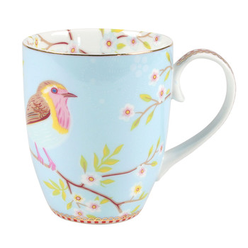 Large Early Bird Mug - Blue