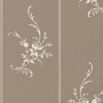 Elsinore Floral Wallpaper - PRL056/02 - Charcoal
