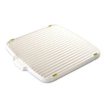 Flip Double Sided Draining Board - White/Green