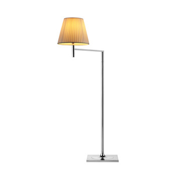 KTribe F Floor Lamp with Dimmer - Plisse Cloth