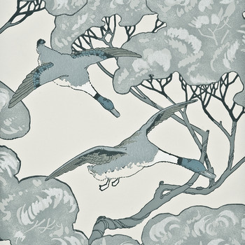 Flying Ducks Wallpaper - FG066/R104 Aqua