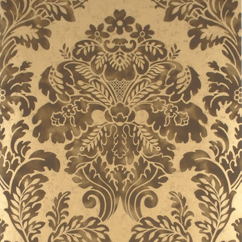 Fresco Damask Wallpaper - FG055/A127 Charcoal/Gold