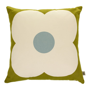 Giant Abacus Cushion - 45x45cm - Olive/Duck Egg
