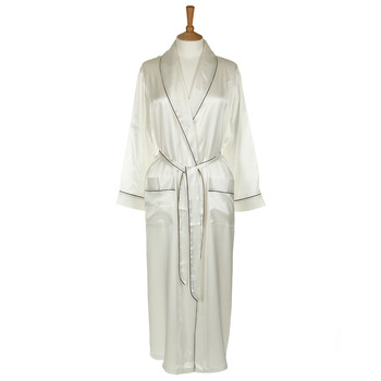 Silk Dressing Gown - Ivory