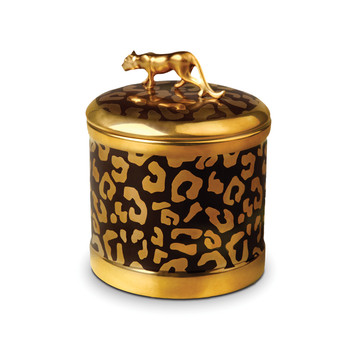 Leopard Candle - Gold