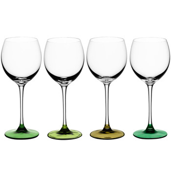 Coro Assorted Wine Glasses - Set of 4 - Leaf