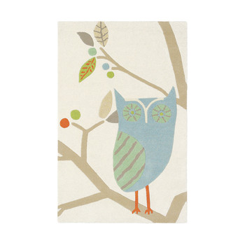 What a Hoot Rug - Pastel