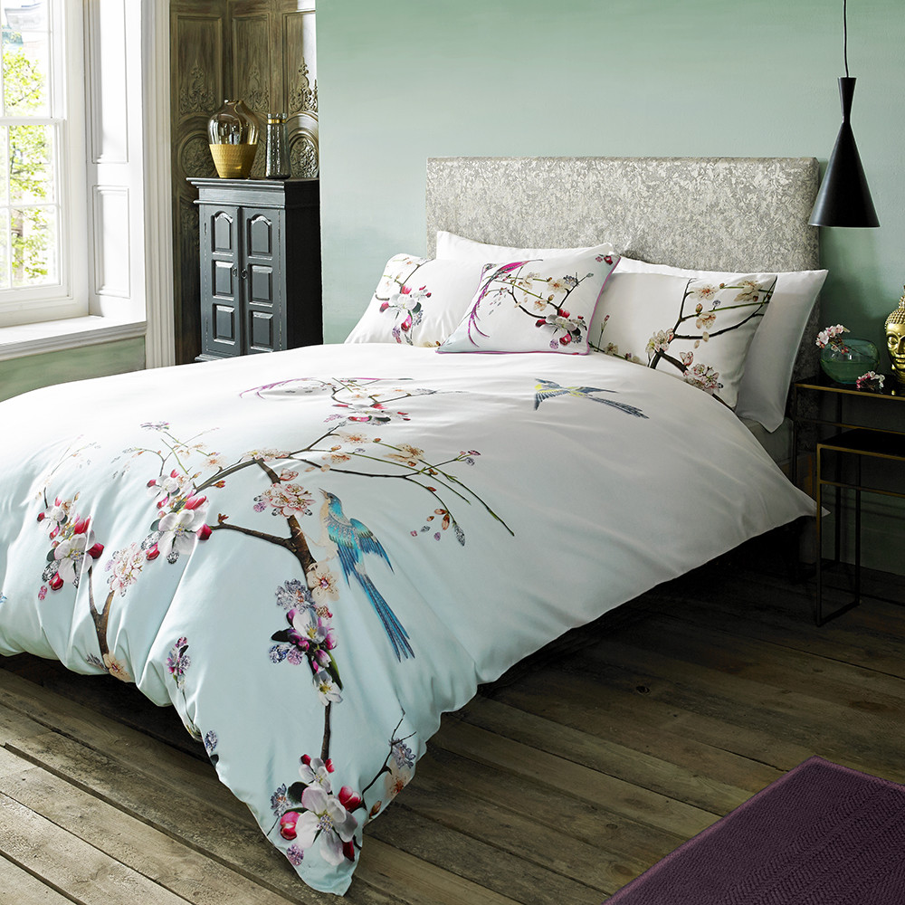 duvet covers  designer bed linen  bedding  amara - flight of the orient duvet cover
