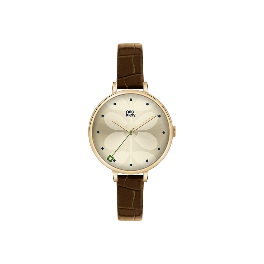 Buy Orla Kiely Ivy Watch with Thin Leather Strap