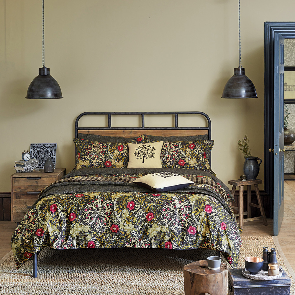 Morris and Co  Morris Seaweed Duvet Cover  Double