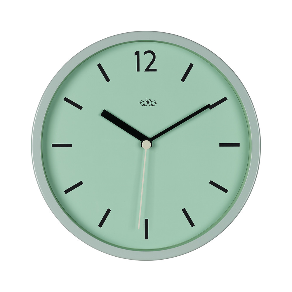Wild  Wolf - Wall Clock 30cm - Swedish Green