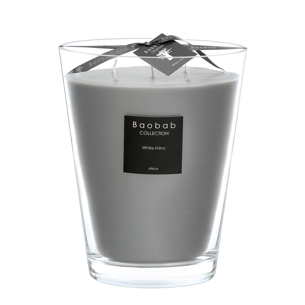 Baobab Collection - Scented Candle - White Rhino - 24cm