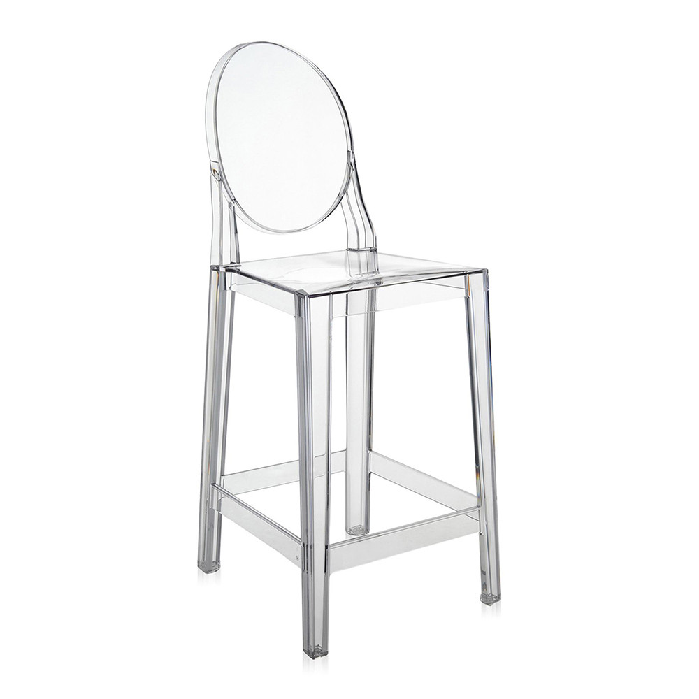 Buy Kartell One More Stool Crystal 65cm Amara
