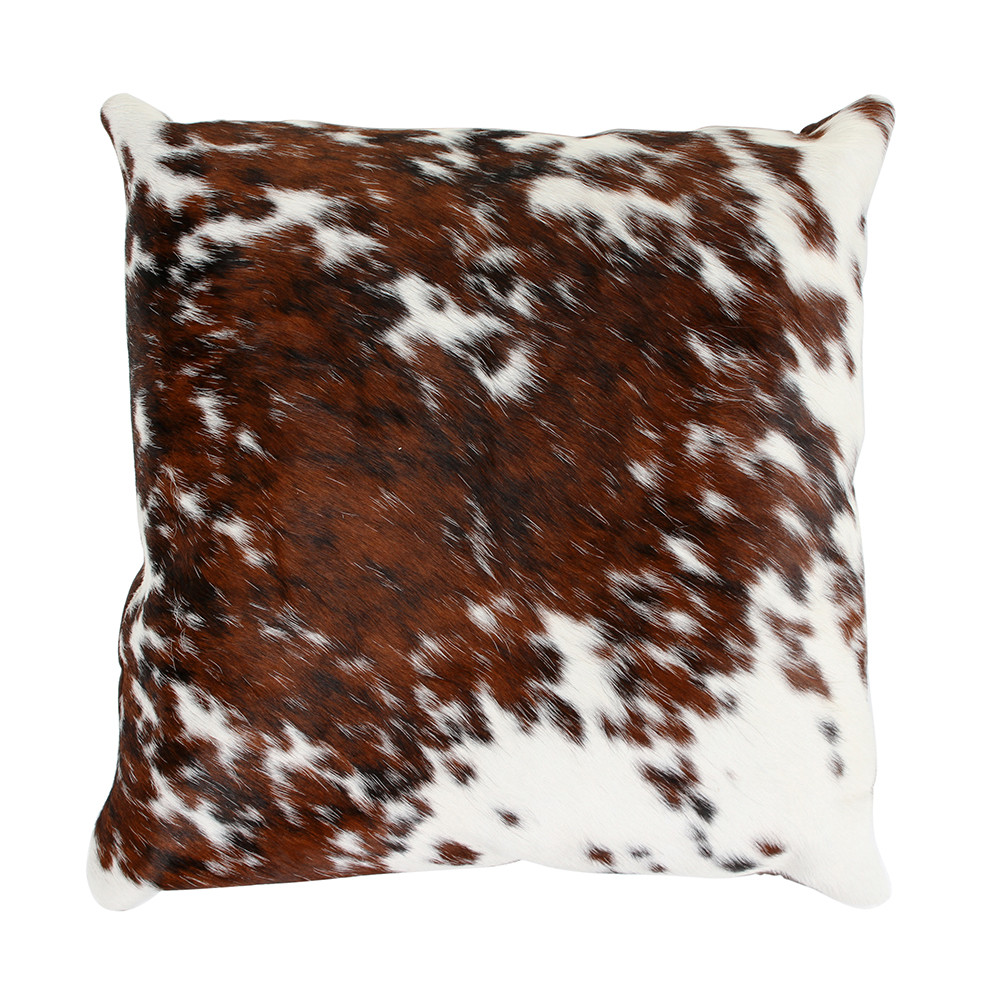 Buy A By Amara Speckled Cowhide Pillow 45x45cm Brown