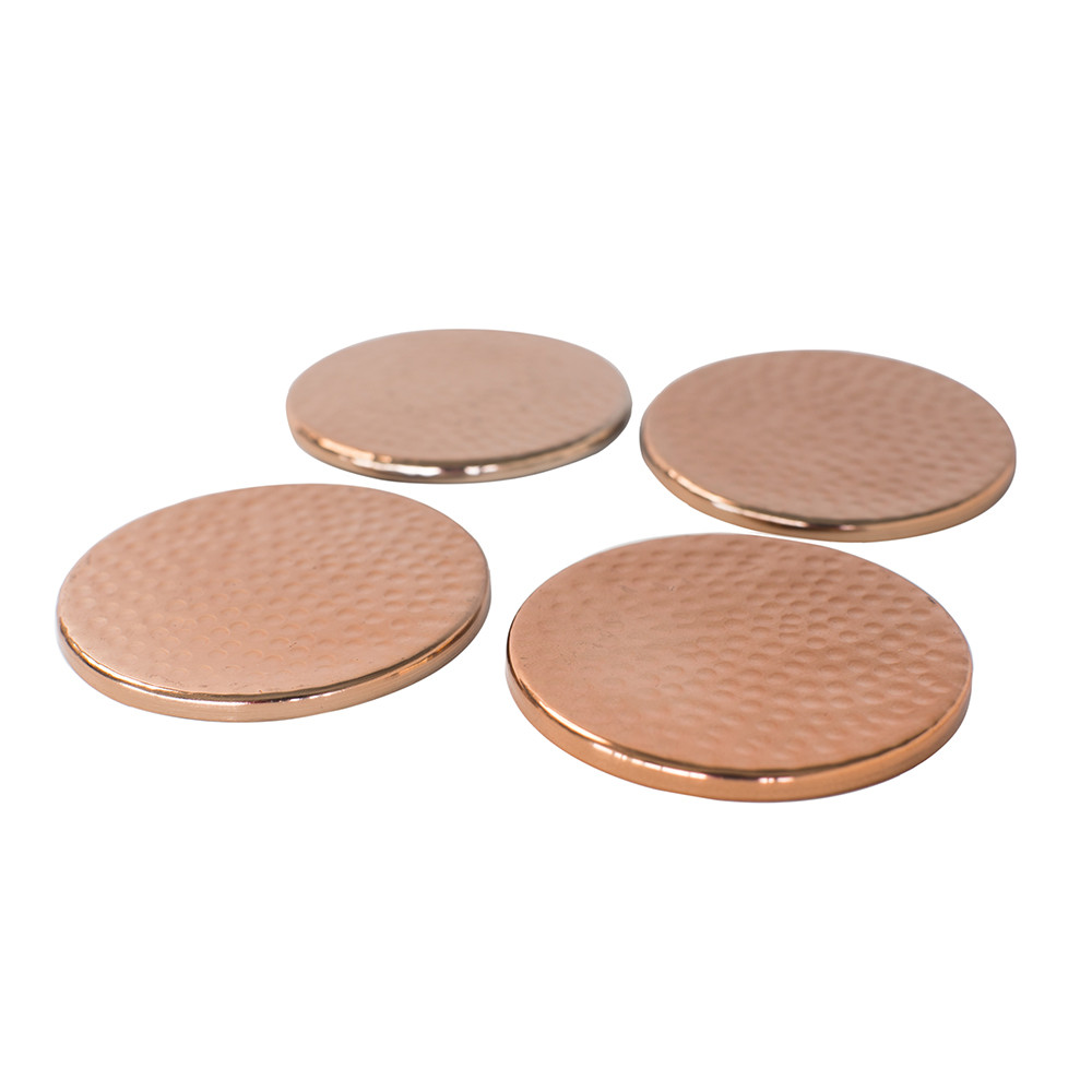 The Just Slate Company - Copper Coasters - Set of 4