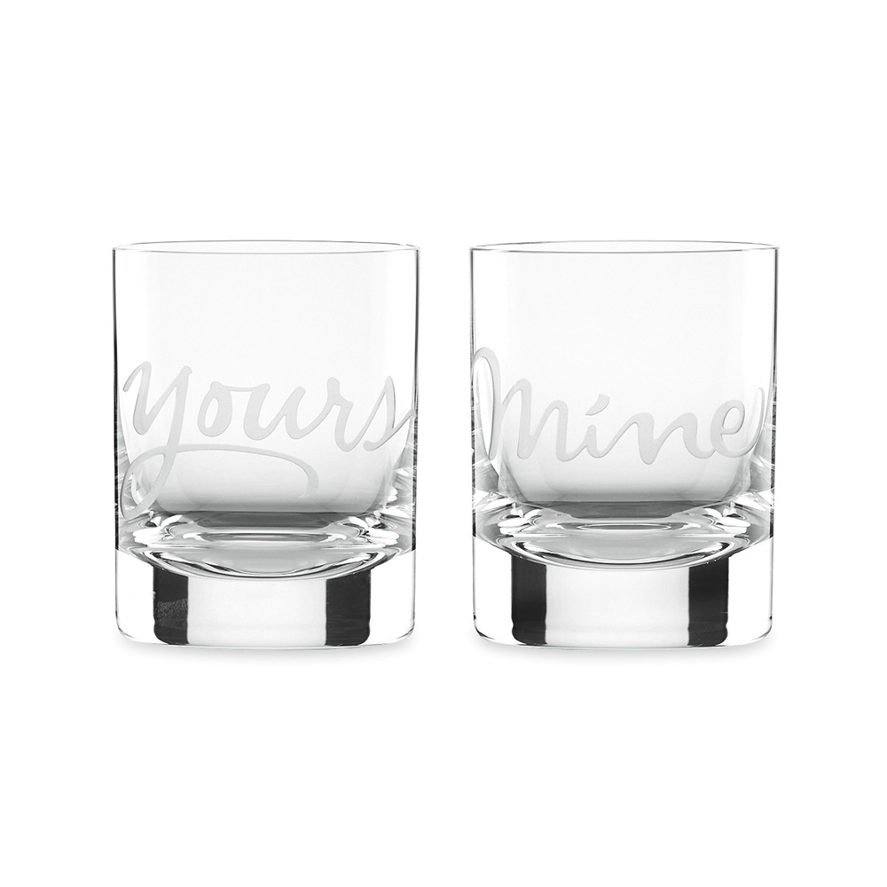 kate spade new york  Two of a Kind Mine  Yours DOF Tumblers  Set of 2