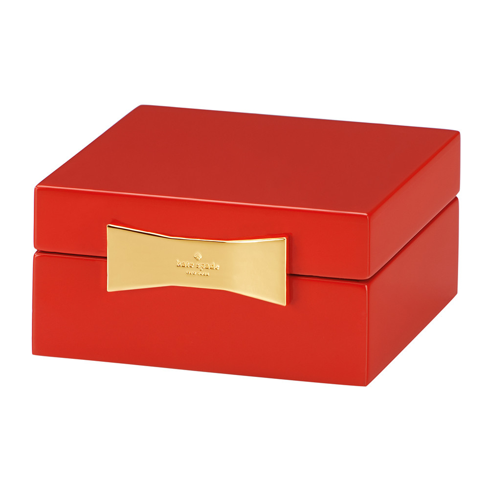 kate spade new york kate spade new york – Garden Drive Square Jewellery Box – Red
